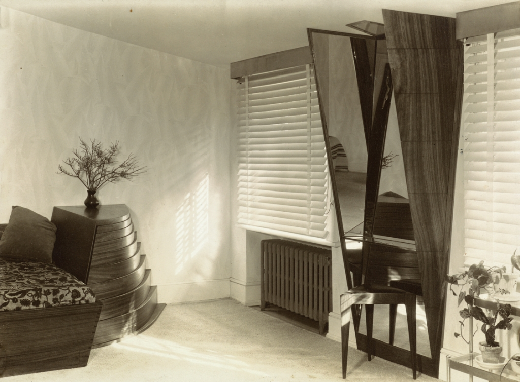 "Wharton Esherick's Content Bedroom Suite in New York City Apartment"", photograph by Marjorie Content, ca. 1933."