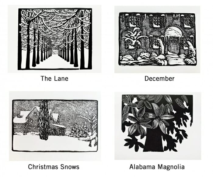 four woodcuts