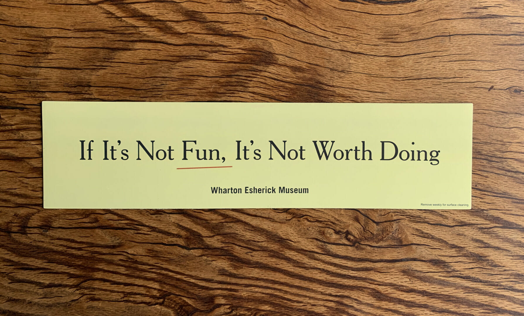 car bumber magnet with Esherick quote