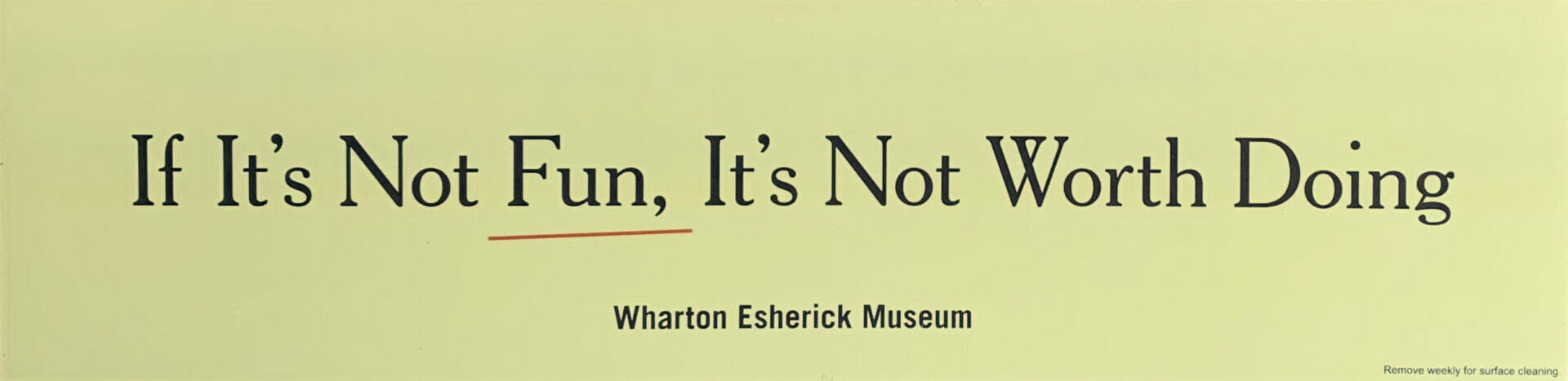 car magnet with esherick quote in black text