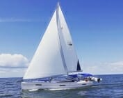 side view of sailboat