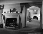 angular fireplace and doorway