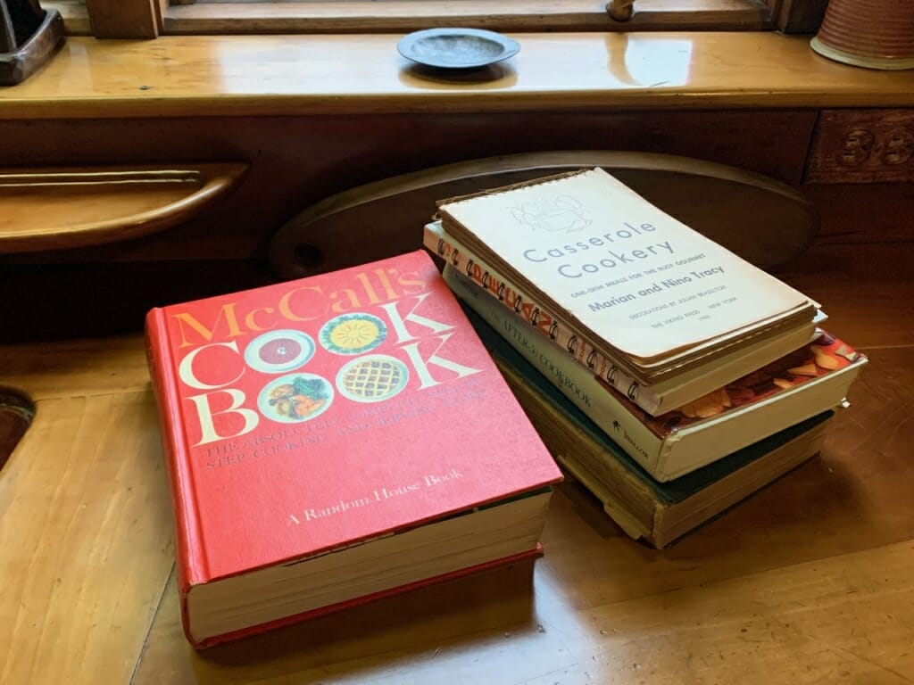 books on counter