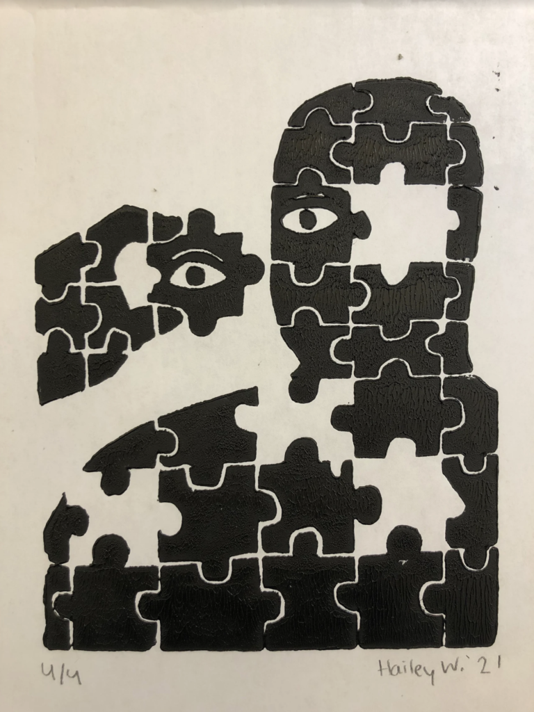 "Hailey W., Delaware County Christian School, ""Pieces"""