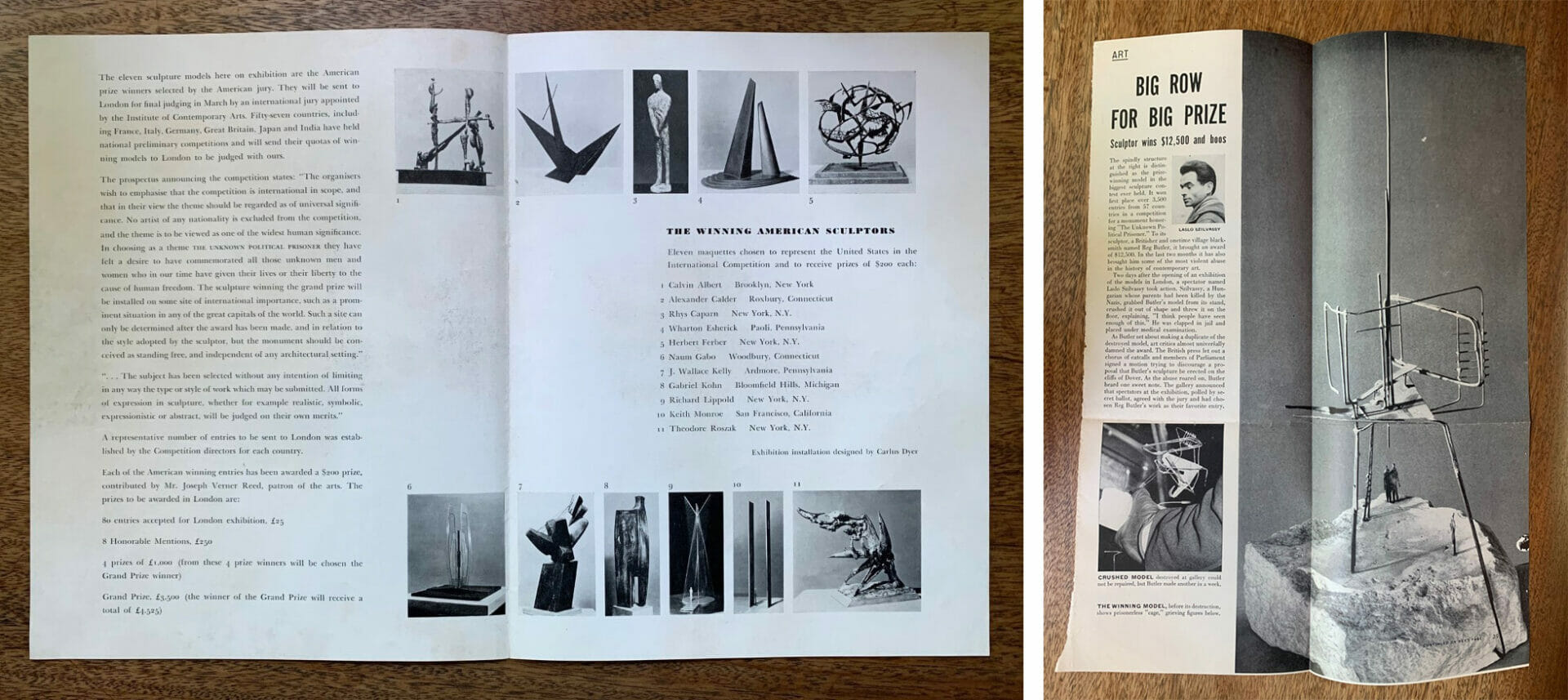 exhibition catalog and news clipping